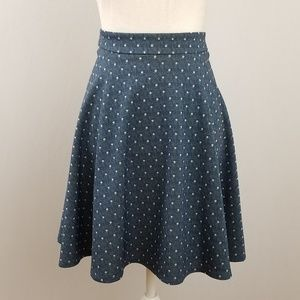 NWT Freeway Blue Polka Dot Skirt